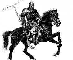 black horseman